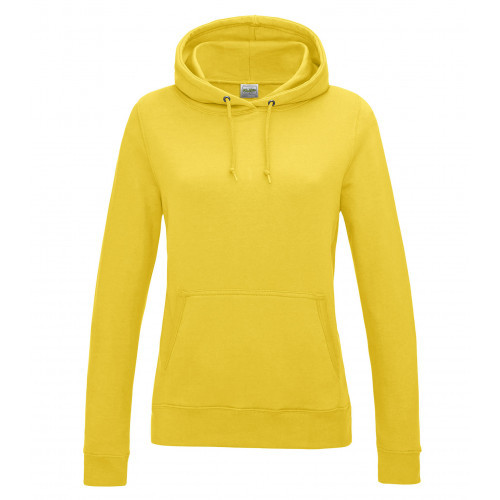Just Hoods Women's College Hoodie Sun Yellow
