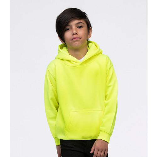 Just Hood Kids Electric Hoodie Electric Yellow