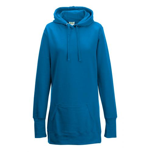 Just Hoods Women's Longline Hoodie Sapphire Blue