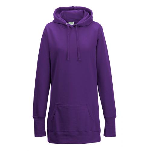 Just Hoods Women's Longline Hoodie Purple