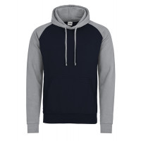 Just hoods Baseball Hoodie Oxford Navy/Heather Grey