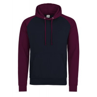 Just hoods Baseball Hoodie Oxford Navy/Burgundy
