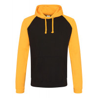 Just hoods Baseball Hoodie Jet Black/Gold