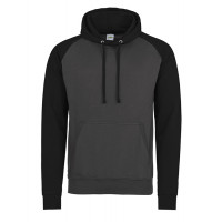 Just hoods Baseball Hoodie Charcoal/Jet Black