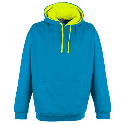 Just Hood Superbright Hoodie Sapphire Blue/El. Yellow