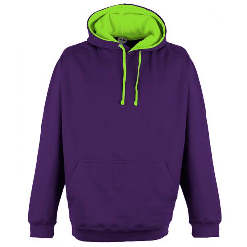 Just Hood Superbright Hoodie Purple/El. Green