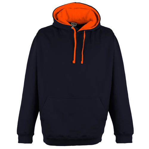 Just Hood Superbright Hoodie Oxford Navy/El. Orange