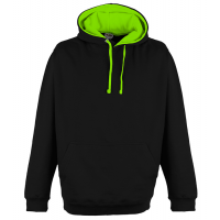 Just Hood Superbright Hoodie Jet Black/El. Green