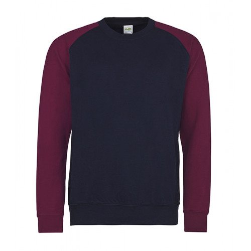 Just hoods Baseball Sweat Oxford Navy/Burgundy