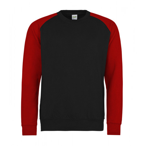 Just hoods Baseball Sweat Jet Black/Fire Red