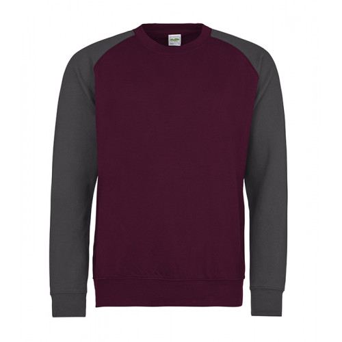 Just hoods Baseball Sweat Burgundy/Charcoal