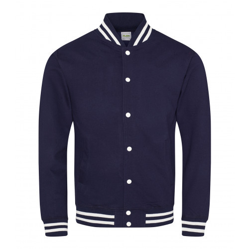 AWD Just Hood College Jacket Oxford Navy