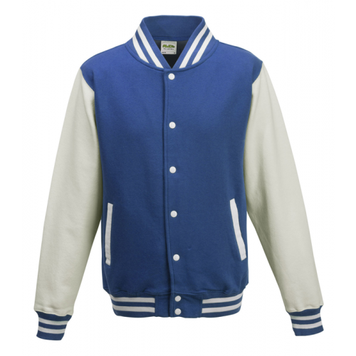 AWD Just Hood Varsity Jacket Royal Blue/Arctic White