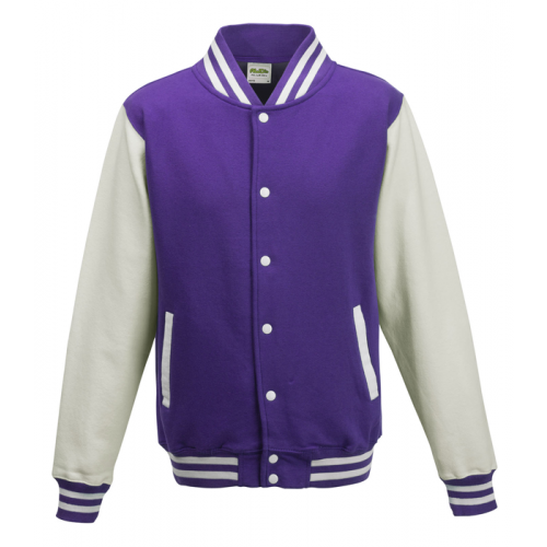 AWD Just Hood Varsity Jacket Purple/White