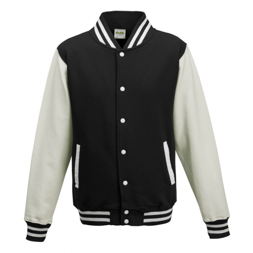AWD Just Hood Varsity Jacket Jet Black/Arctic White