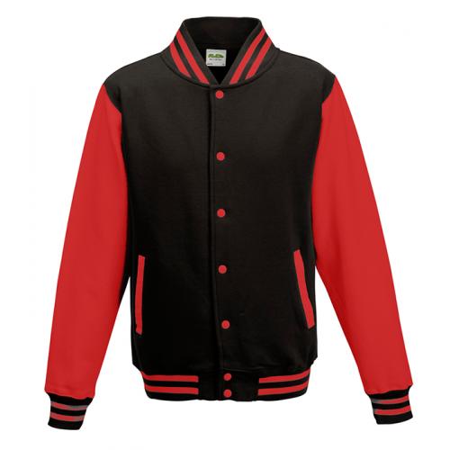 AWD Just Hood Varsity Jacket Jet Black/Fire Red