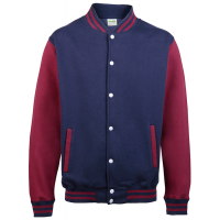 Just hoods Kids Varsity Jacket Oxford Navy/Burgundy