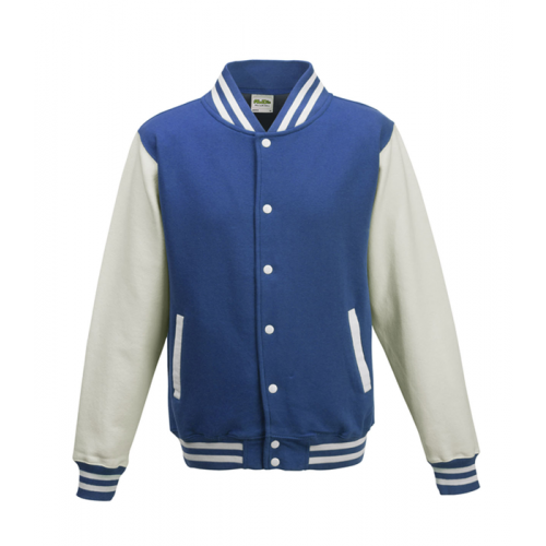 Just hoods Kids Varsity Jacket Royal Blue/White
