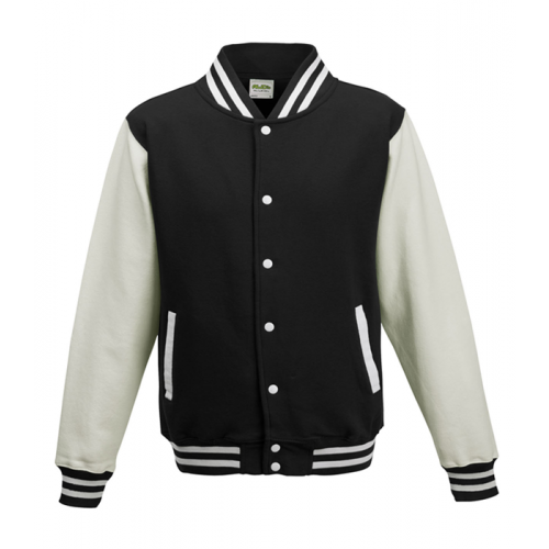 Just hoods Kids Varsity Jacket Black/White