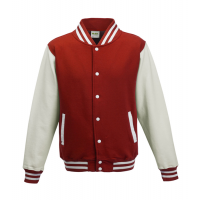 Just hoods Kids Varsity Jacket Red/White