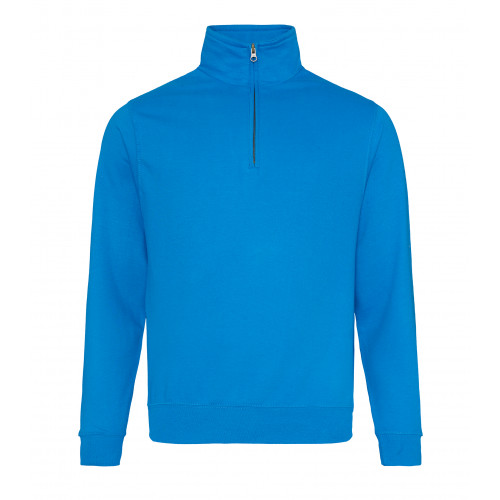 Just Hood Sophomore ¼ Zip Sweat Sapphire Blue