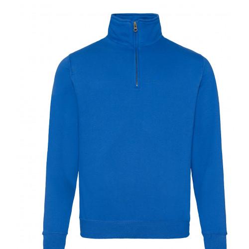Just Hood Sophomore ¼ Zip Sweat Royal Blue