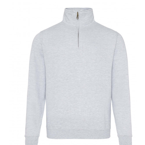 Just Hood Sophomore ¼ Zip Sweat Heather Grey