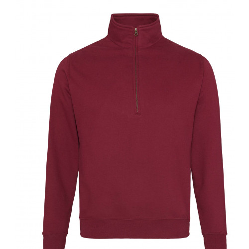 Just Hood Sophomore ¼ Zip Sweat Burgundy