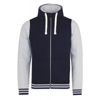 Just hoods Urban Varsity Zoodie Oxford Navy/Heather Grey
