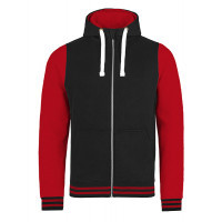 Just hoods Urban Varsity Zoodie Jet Black/Fire Red