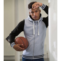 Just hoods Urban Varsity Zoodie Charcoal/Jet Black