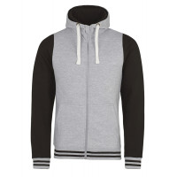 Just hoods Urban Varsity Zoodie Heather Grey/Jet Black