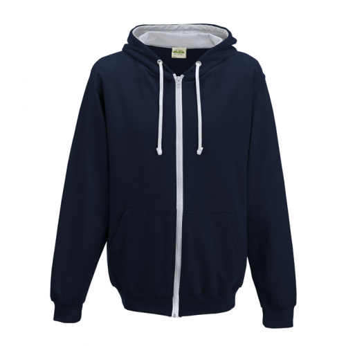 Just Hood Varsity Zoodie French Navy/Heather Grey