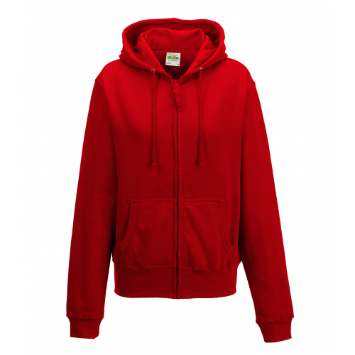 Just hoods Girlie Zoodie Fire Red