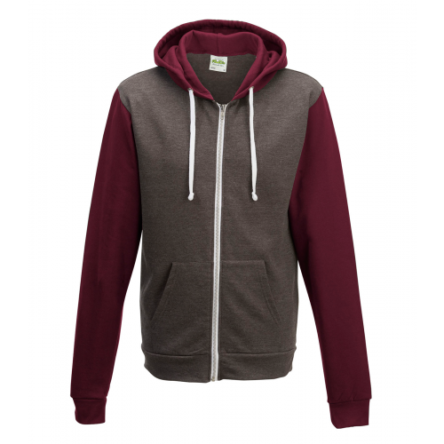 Just hoods Retro Zoodie Charcoal/Burgundy