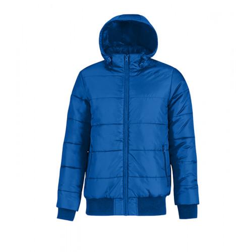 B and C Collection Men´s Superhood Jacket Royal Blue/Neon Orange