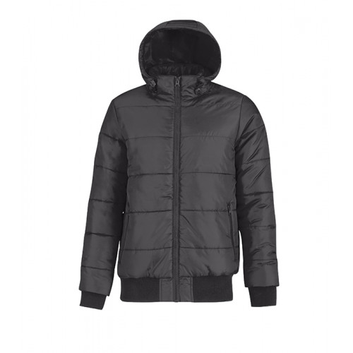 B and C Collection Men´s Superhood Jacket Dark Grey/Neon Orange