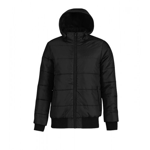 B and C Collection Men´s Superhood Jacket Black/Cobalt Blue