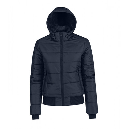 B and C Collection Woman`s Superhood Jacket Navy/Neon Green