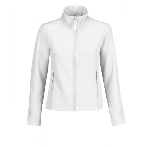 B and C Collection ID.701 Womens Softshell White