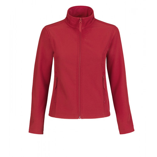 B and C Collection ID.701 Womens Softshell Red/Warm Grey