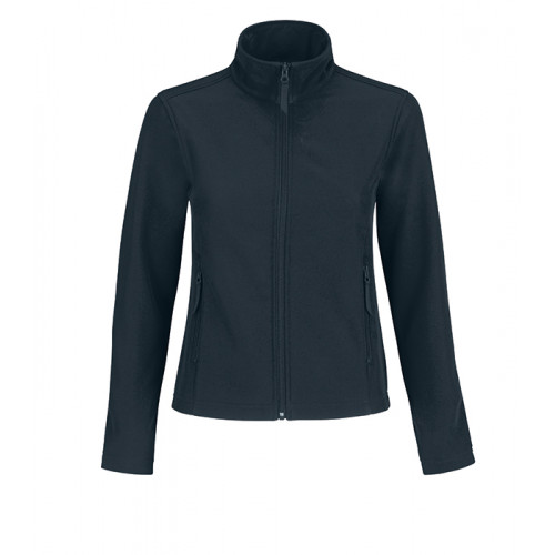 B and C Collection ID.701 Womens Softshell Navy/Neon Green