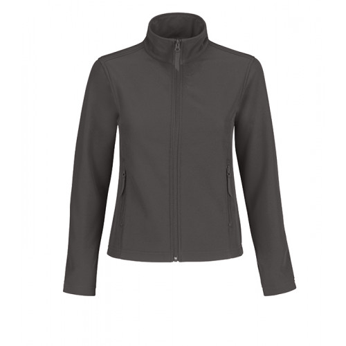 B and C Collection ID.701 Womens Softshell Dark Grey/Neon Orange