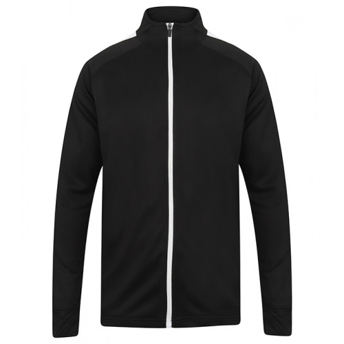 Finden Hales Adult'S Knitted Tracksuit Top Black/White