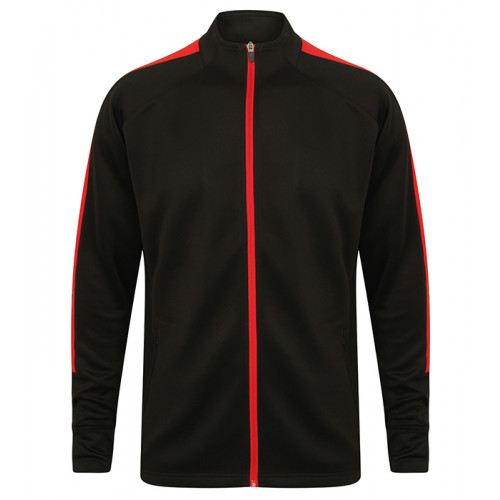 Finden Hales Adult'S Knitted Tracksuit Top Black/Red
