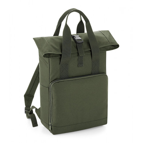 Bag base Twin Handle Roll-Top Backpack Olive Green