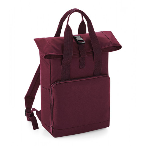Bag base Twin Handle Roll-Top Backpack Burgundy