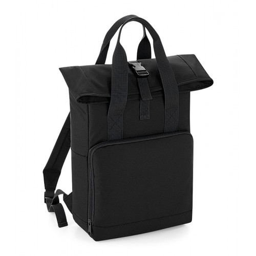 Bag base Twin Handle Roll-Top Backpack Black