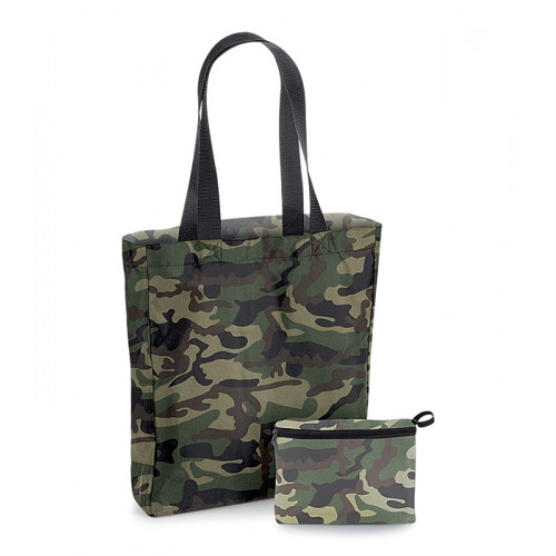 Bag base Packaway Tote Bag Jungle Camo/Black