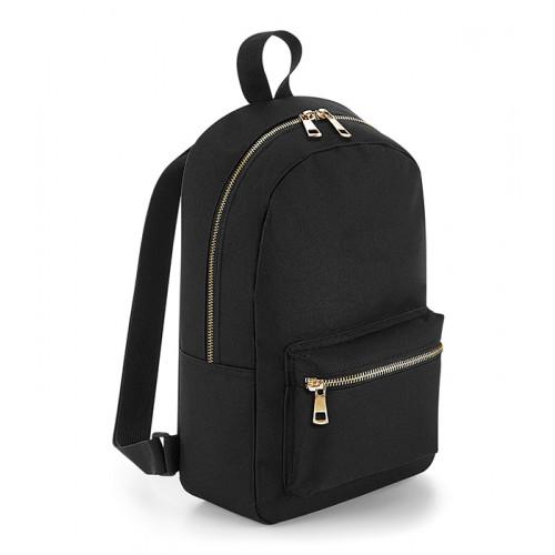 Bag base Metallic Zip Mini BackPack Black/Gold